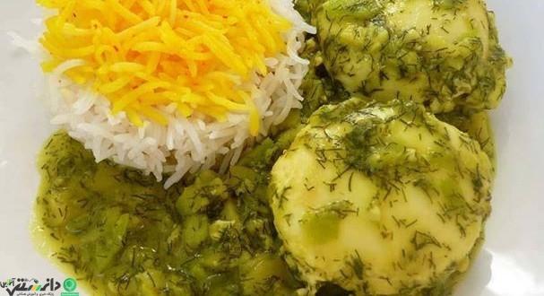 طرز تهیه خورشت باقالا قاتق غذای محلی گیلانی + ویدئو