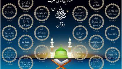 مشهورترین اسامی حضرت محمد(ص) در قرآن