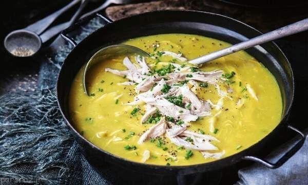 طرز تهیه و آشپزی آسان سوپ تره فرنگی با مرغ +ویدئو