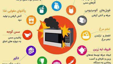 12 ماده ای که موجب انفجار مایکروفر میشوند +اینفوگرافیک