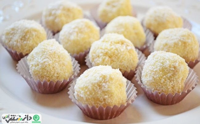 آموزش تهیه شیرینی نارگیلی خانگی بدون نیاز به فر برای عید