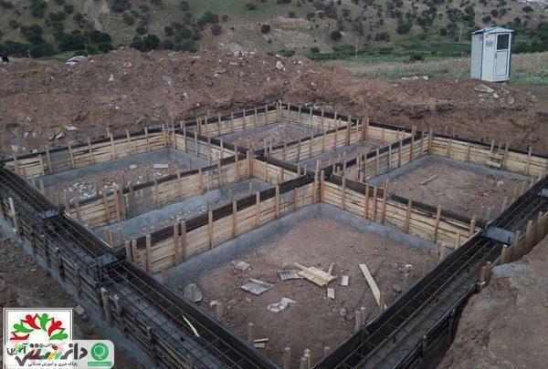 پیشرفت در ساخت ساختمان مدرسه در روستای حسن سلیمان
