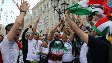 حضور طرفداران تیم ملی ایران در میدان سرخ مسکو +عکس