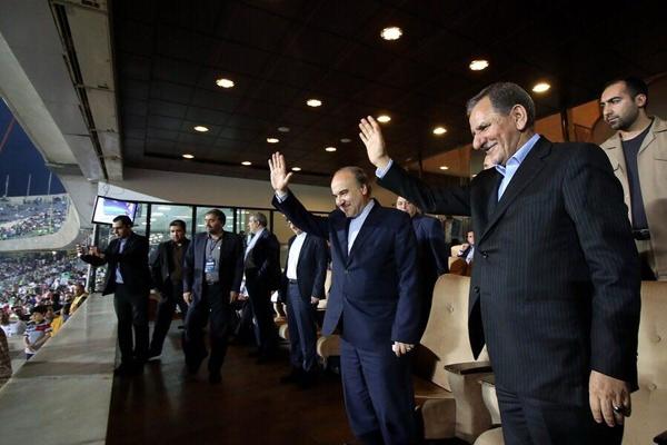 افتتاح ورزشگاه ٧ هزار نفری اسلامشهر با حضور جهانگیری و وزیر ورزش