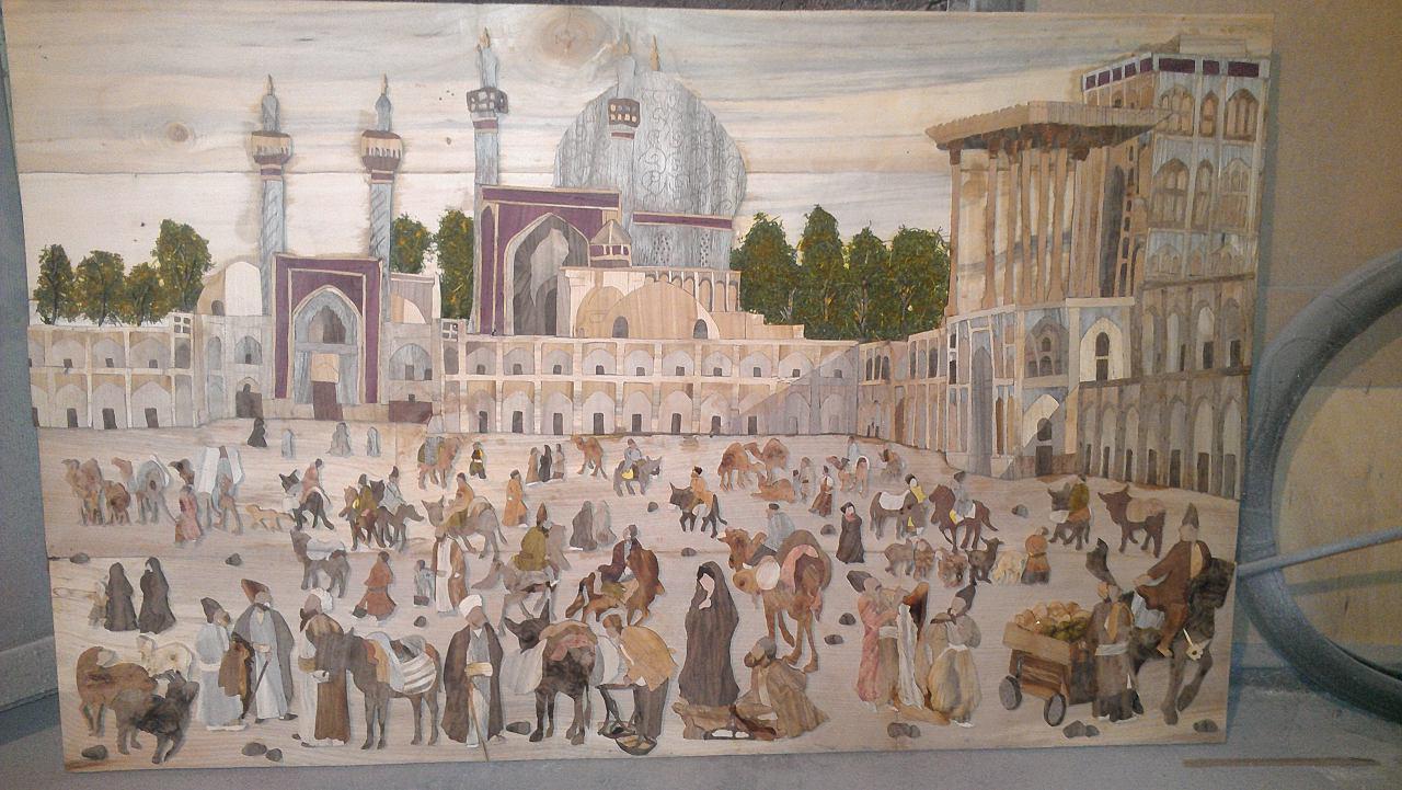 تأثیر اسلام بر هنر منبتکاری یا کندهکاری بر چوب