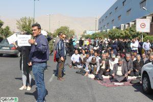 تجمع اعتراضی مالباختگان یکی از نمایندگی های ایران خودرو مقابل کارخانه این شرکت