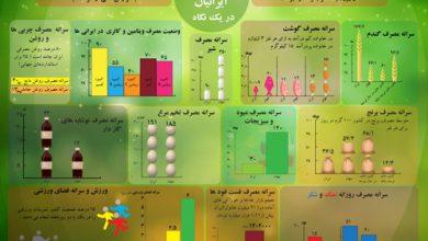 الگوی تغذیه و سلامت ایرانیان در یک نگاه +اینفوگرافیک